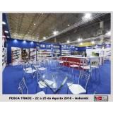 manutenção de display para feiras de negócios Vila Romana