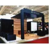 montagem de stand para eventos institucionais e promocionais valor São Carlos