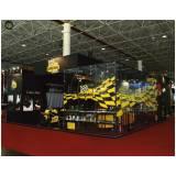 montagem de stand para divulgação de produtos